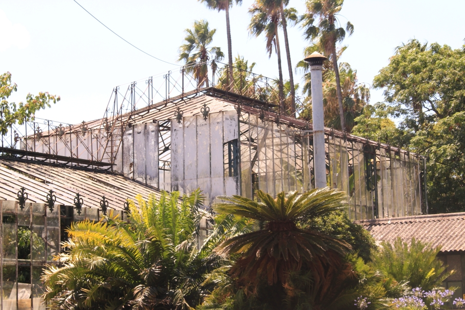 Greenhouses in Belém's Bontanical Garden has seen better days